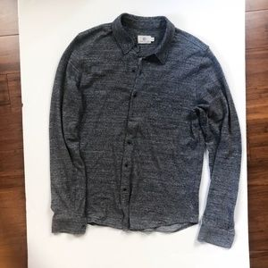 AG Adriano Goldschmied Wool Slub Button Down Shirt